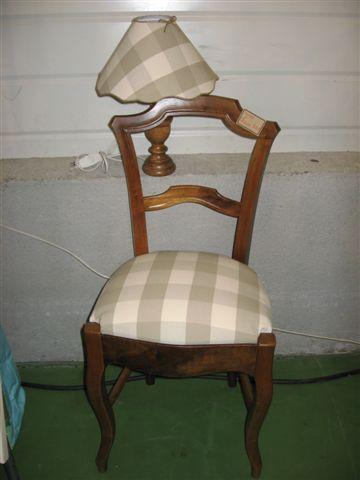 Chaise à carreaux